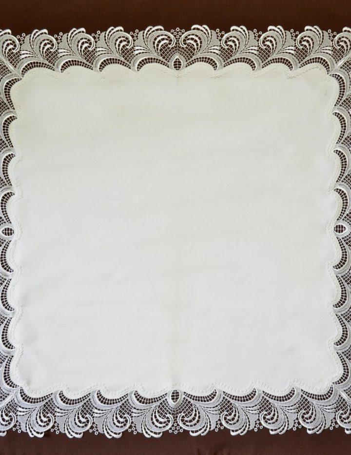 Decke Plauener Spitze 86 cm quardratisch