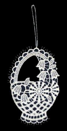Weidenkörbchen aus Plauener Spitze – ein liebevoller Ostergruß