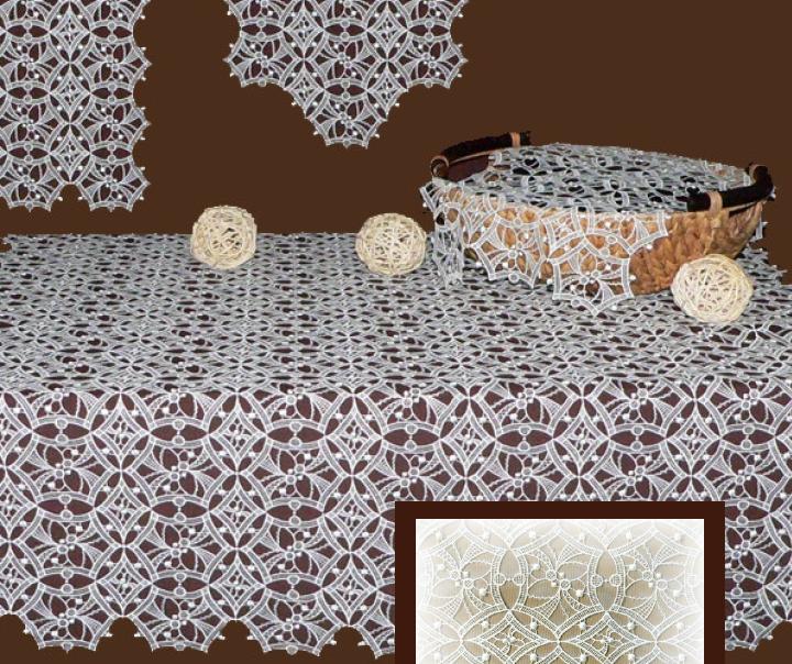 Plauener Spitze Decke Harlekin 90x90 cm
